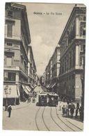 CLA307 - GENOVA LA VIA ROMA ANIMATISSIMA TRAM 1921 - Genova