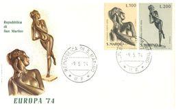 (B 15) EUROPA - San Marino Cover 1974 - Europa-CEPT