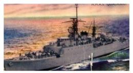(B 15) Australia - HMAS Quadrant Warship Card (old) - Autres