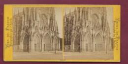 040720A - PHOTO STEREO D VALECKE - 76 ROUEN Portail De L'église St Ouen - Fotos Estereoscópicas