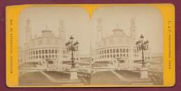 040720A - PHOTO STEREO L & F - 75 PARIS Exposition 1878 - Trocadéro Pavillon De La Salle Des Fêtes - Fotos Estereoscópicas