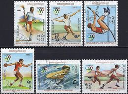 Kampuchea 1983 -  Mi 454/59 - YT 362/67 ( Los Angeles Olympics ) - Kampuchea