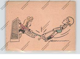 SPORT - HOCKEY, Damen-Hockey, Karikatur Humor, Künstler A.Werner - Postales