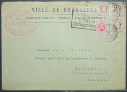 Belgium - Advertising Cover To Switzerland 1935 Expo - 1935 – Brussels (Belgium)