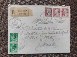 Grarem Algérie Pour Metz Moselle France ( Le 22 10 1962) Algérie Française - Cartas