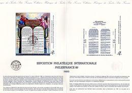 """"""" BICENTENAIRE DE LA REVOLUTION FRANCAISE """" Sur Document Officiel De 4 Pages De 1989 N° HS-89  N° YT BF 11. DPO - French Revolution"""