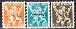 724K/M**  Lion Héraldique Surchargé -10% - TUBIZE - MNH** - LOOK!!!! - 1946 -10%