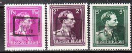 724B/F**  Leopold III Col Ouvert Surchargé -10% - UCCLE 3 - Série Complète - MNH** - LOOK!!!! - 1946 -10%