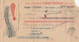 CIE DU GUANO DE POISSON FRANCAIS - LA ROCHELLE 1930 - MAISON ANGIBAUD -JODET - Cambiali