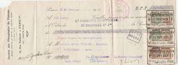 LETTRE DE CHANGE - SOCIETE DES PHOSPHATES DE FAUZZAN PARIS 1931 - Cambiali