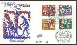 Germany - Federal Republic 1964 Mi 447-450 FDC ( FDC ZE5 GRM447-450 ) - Fairy Tales, Popular Stories & Legends