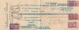 LETTRE DE CHANGE - ETABLISSEMENTS LALANNE USINE DE LA BENAZIE - PASSAGE D AGEN LOT ET GARONNE 1937 - Cambiali