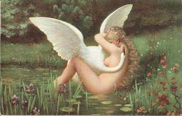 SELLIER: Léda [ Nu Femme Nude Cygne Swan CPA Stengel Allemande ] FM053 - Tableaux