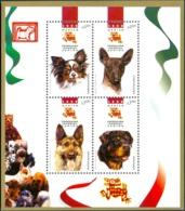 MEXICO 1999 DOGS SHEET OF 4** (MNH) - Mexico