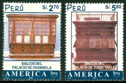 PERU 2002 (FOR 2001) AMERICA-UPAEP, UNESCO HERITAGE SITES** (MNH) - Peru