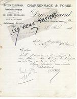 41 - Loir-et-cher - MONTRICHARD - Facture DYE-RICARD - Forge, Charronnage - 1912 - REF 157A - 1900 – 1949