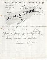 41 - Loir-et-cher - MONTRICHARD - Facture LEMOINE-ROGER - Charpente, Menuiserie, Bois - 1914 - REF 157A - 1900 – 1949