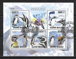 GUINEE-BISSAU 2009 PINGOUINS YVERT N°3075/79 OBLITERE - Penguins