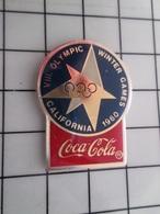 415b Pin's Pins / Rare & Belle Qualité !!! THEME : JEUX OLYMPIQUES / COCA-COLA  CALIFORNIE 1960 - Juegos Olímpicos