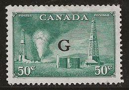 Canada 1950-1952 N° Y&T : SE. 26 Gomme Abimée - Officials