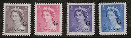 Canada 1953 N° Y&T : SE. 33,34,36 Et 37 * - Officials