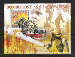 GUINEE-BISSAU 2009 POMPIERS YVERT N°B469 OBLITERE - Firemen