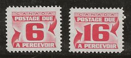 Canada 1972-1974 N° Y&T : TT 36 Et 37 (dent. 12) ** - Port Dû (Taxe)