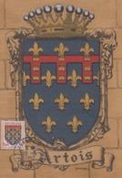 Carte  Maximum  FRANCE   Armoiries  De  L' ARTOIS    ARRAS    1952 - 1950-59