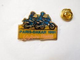 Beau Pin's , Moto Yamaha , Rallye Paris Dakar 1991 - Motos