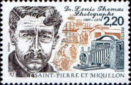 SPM Poste N** Yv: 488 Yv:1,25 Euro Dr.Louis Thomas Photographe - Neufs