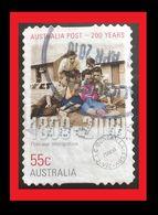 072. AUSTRALIA (55C)  USED STAMP 200 YEARS OF AUSTRALIA POST - 1990-99 Elizabeth II