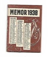 CALENDRIER MEMOR 1938 CAMPARI L'APERITIF - Calendars