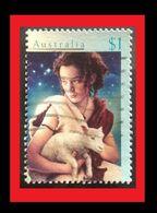 072. AUSTRALIA ($1.00) 1996 USED STAMP CHRISTMAS - 1990-99 Elizabeth II