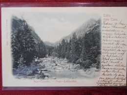SLOVAKIA - HOHE TATRA - TATRY / HUNGARY - NAGY TARPATAK / 1899 (AB34) - Slovaquie