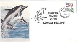 POSTMARKET  USA  1990 - Dolphins