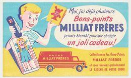Buvard 17.6 X 10.5  Les Pâtes MILLIAT FRERES Jeune Garçon Couteau Suisse Poupée Camion - Alimentaire