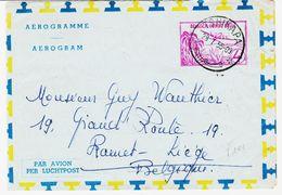 Congo Belge De Tshikapa   En 1955, Aérogramme à  4 F  Circulé TB - Entiers Postaux