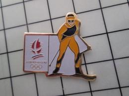415b Pin's Pins / Rare & Belle Qualité !!! THEME : JEUX OLYMPIQUES / ALBERTVILLE 1992 SKI DE FOND - Juegos Olímpicos
