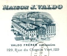 VALDO        -Fonderie-      Paris         Belle Illustration Usine    1903    Fiscal - Cambiali