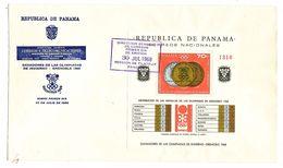 FDC PANAMA Xèmes Jeux Olympiques D\'Hiver De Grenoble 1968  Olympic Games  Premier Jour 30 Juillet 1968 Sur Enveloppe* - Panama