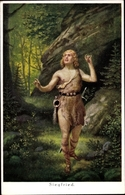 Artiste Cp Erlang, Siegfried, Mein Vöglein Schwebte Mir Fort, Nibelungensage - Cuentos, Fabulas Y Leyendas