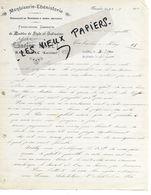48 - Lozère - BANASSAC - Facture MALET - Menuiserie, ébénisterie, Meubles - 1912 - REF 157B - 1900 – 1949