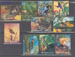 Umm Al Qiwain 1972 Mi 1589-1598 MNH ( ZS10 UAK1589-1598 ) - Parrots