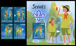 SIERRA LEONE 2020 - Scouts, 4v + S/S Official Issue [SRL200211] - Movimiento Scout