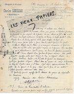 49 - Maine-et-loire - BEAUPREAU - Facture SUBILEAU - Charpente, Escaliers - 1905 - REF 157B - 1900 – 1949