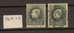 Belgie - Belgique Ocb Nr :   290A En 290B   (zie Scan) - 1929-1941 Big Montenez