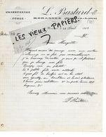 49 - Maine-et-loire - MORANNES - Facture BASTARD - Forge, Charronnage - 1912 - REF 157B - 1900 – 1949
