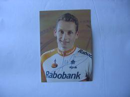 Cyclisme - Autographe - Carte Signée Adri Van Der Poel - Cyclisme