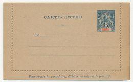 GRANDE COMORE - Entier Carte Lettre 15c Bleu Sur Gris - CL1 - Neuve - Brieven En Documenten