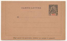 GRANDE COMORE - Entier Carte Lettre 25c Noir Sur Rose - CL2 - Neuve - Brieven En Documenten